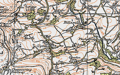Old map of Upton Cross in 1919