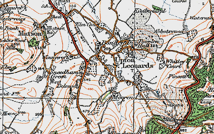 Old map of Whitley Court in 1919