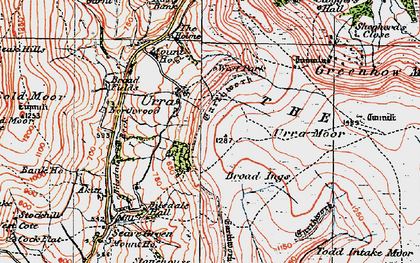 Old map of Todd Intake Moor in 1925