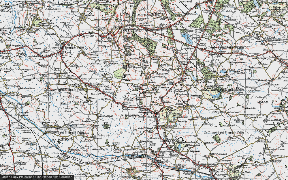 Old Map of Historic Map covering Ash Hill Ho in 1923