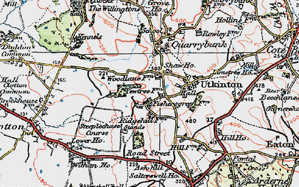 Old map of Ash Hill Ho in 1923