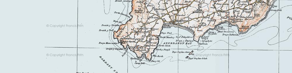 Old map of Tir Glyn in 1922