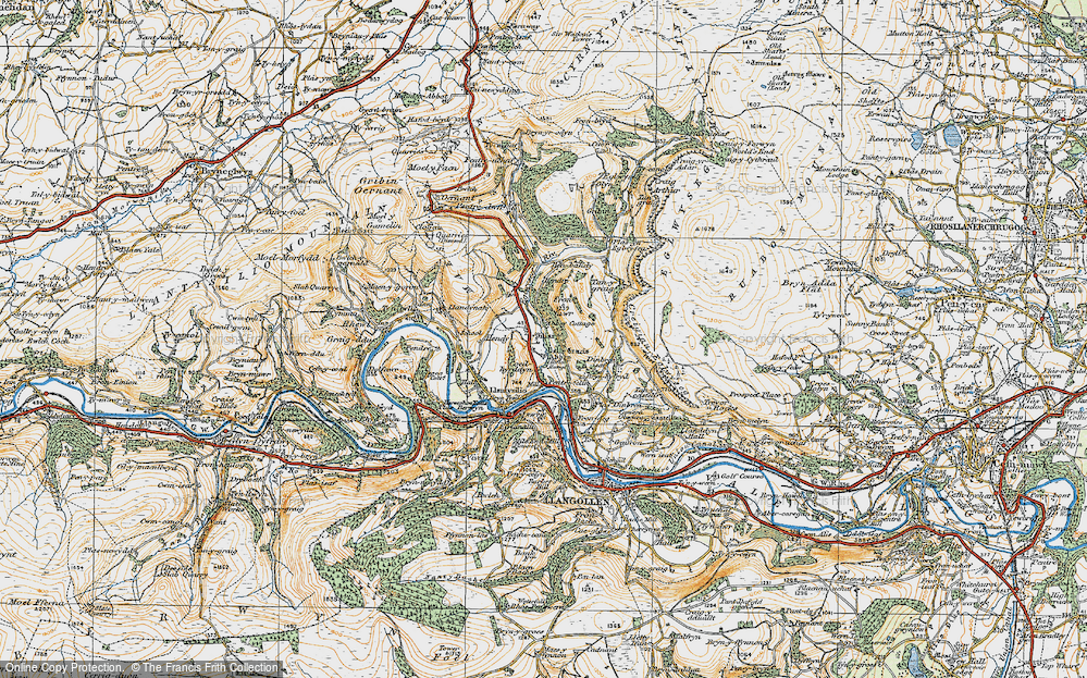 Old Map of Historic Map covering Abbey Cottage in 1921