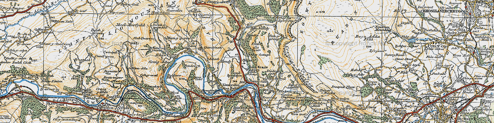 Old map of Abbey Cottage in 1921