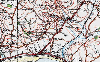 Old map of Varfell in 1919