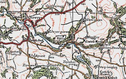 Old map of Ysguborwen in 1923