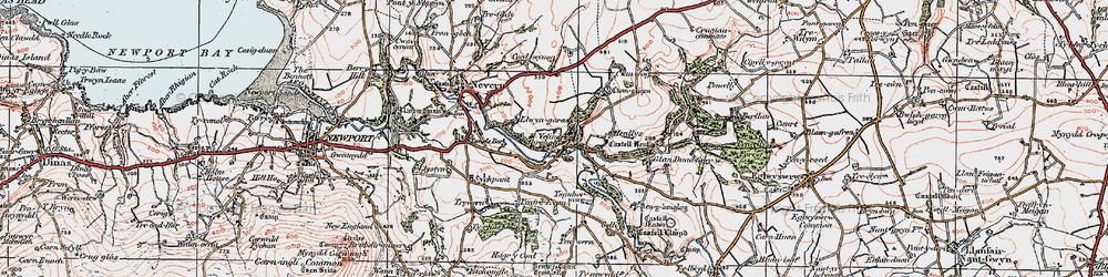 Old map of Velindre in 1923