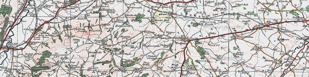 Old map of Whitton Grange in 1921