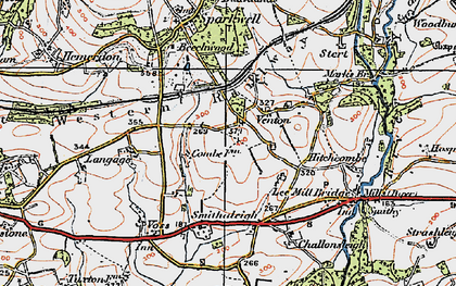 Old map of Langage in 1919