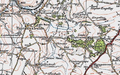 Old map of Ventongimps in 1919