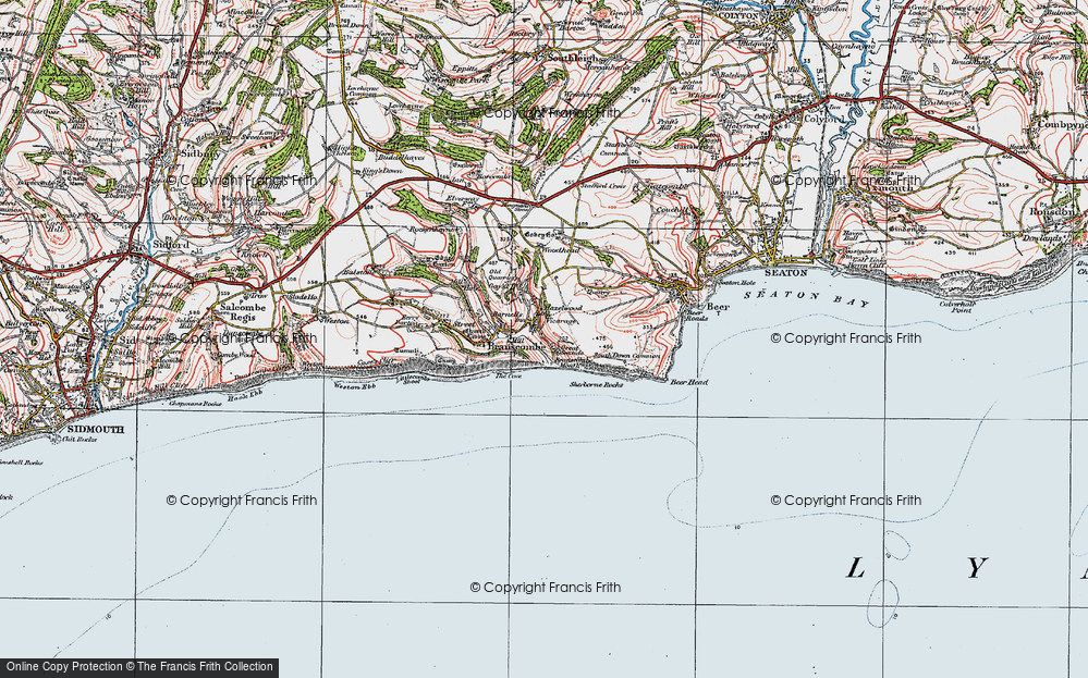Old Map of Historic Map covering Woodhead in 1919