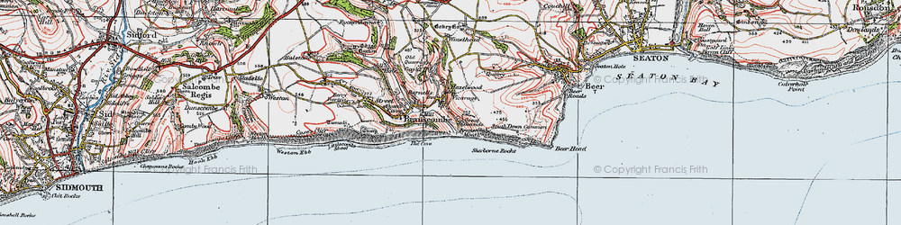 Old map of Woodhead in 1919