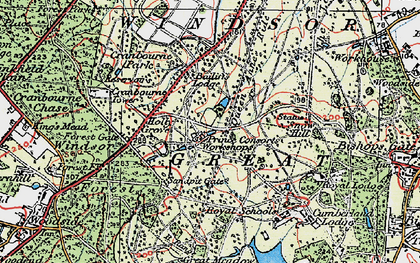 Old map of Windsor Great Park in 1920