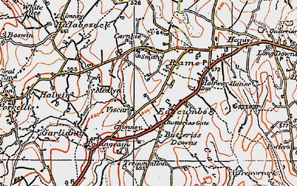 Old map of Viscar in 1919