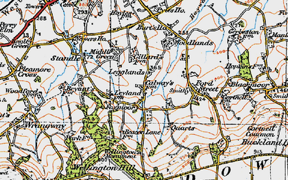 Old map of Legglands in 1919