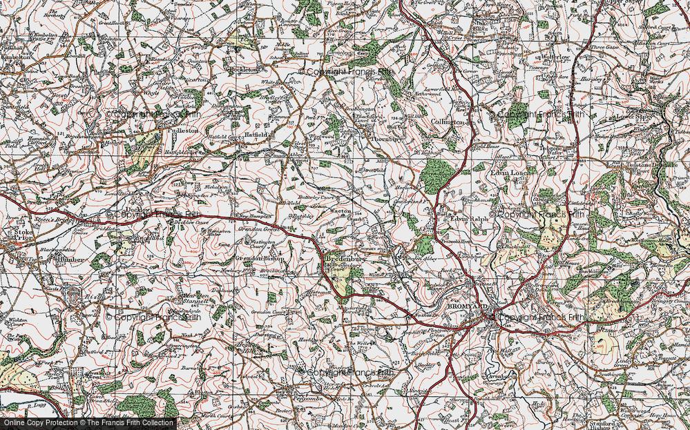 Old Map of Historic Map covering Wiggall in 1920