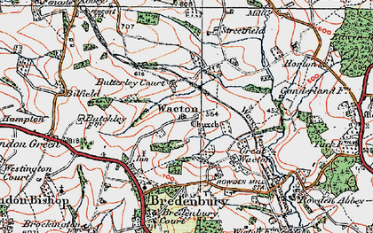 Old map of Wiggall in 1920