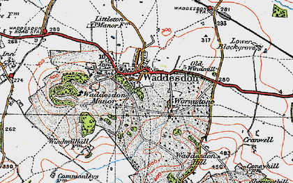 Old map of Waddesdon in 1919