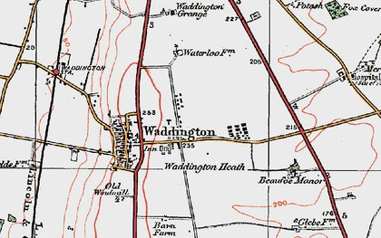 Old map of Waddington in 1923