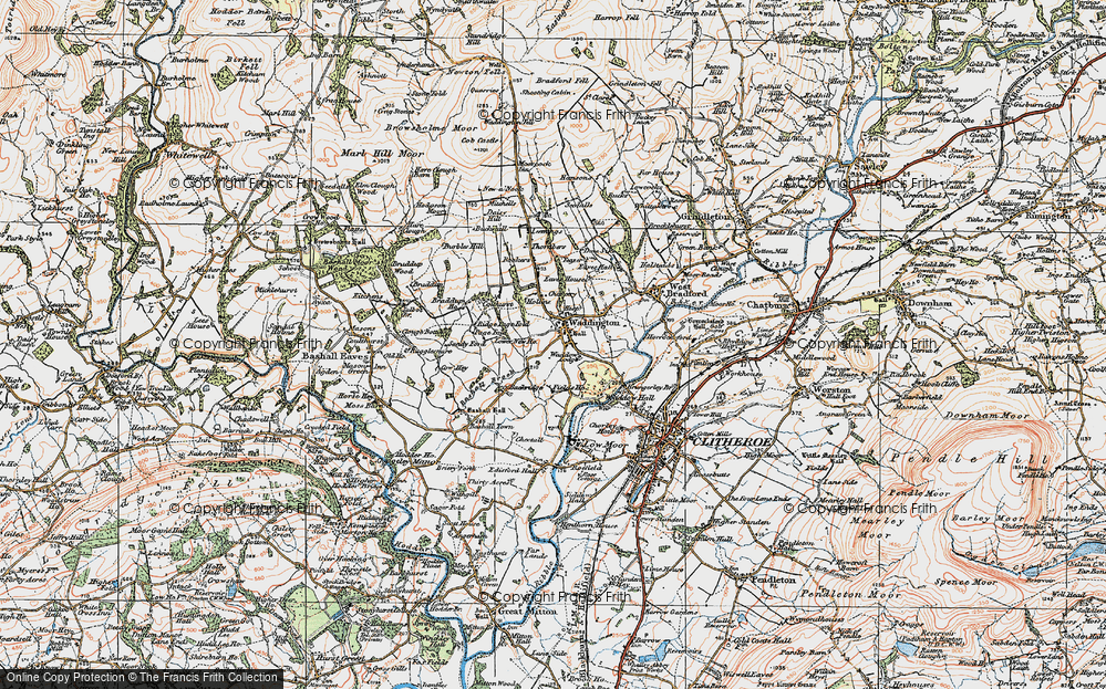 Old Map of Historic Map covering Backridge Fm in 1924