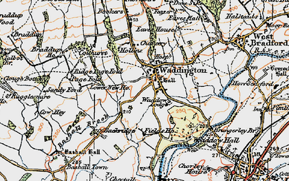 Old map of Waddington in 1924