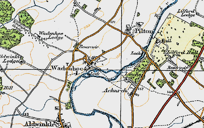 Old map of Aldwincle Lodge in 1920