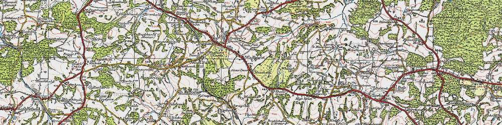 Old map of Wadhurst in 1920