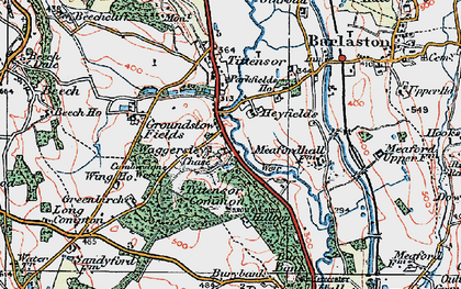 Old map of Tittensor Chase in 1921