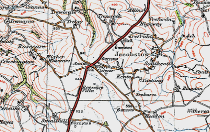 Old map of Wainhouse Corner in 1919