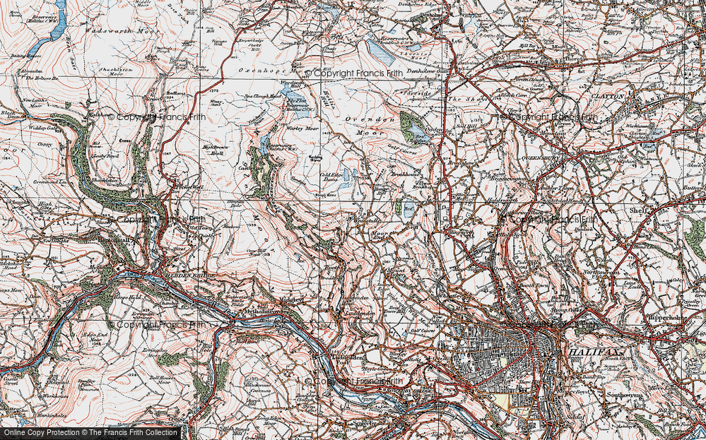 Old Map of Wainstalls, 1925 in 1925
