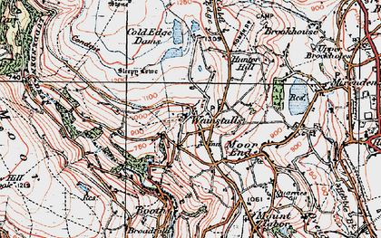 Old map of Wainstalls in 1925