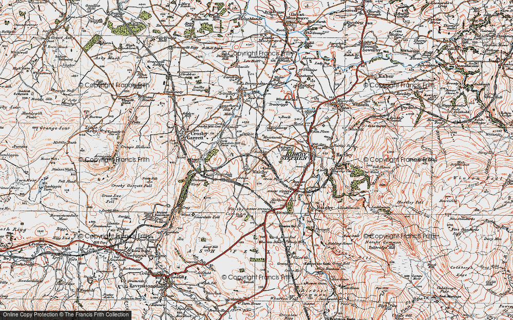 Old Map of Historic Map covering Leases in 1925