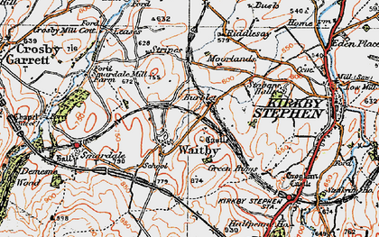 Old map of Leases in 1925