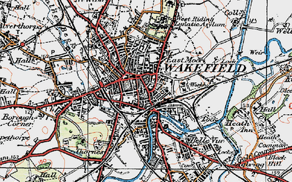 Old map of Wakefield in 1925