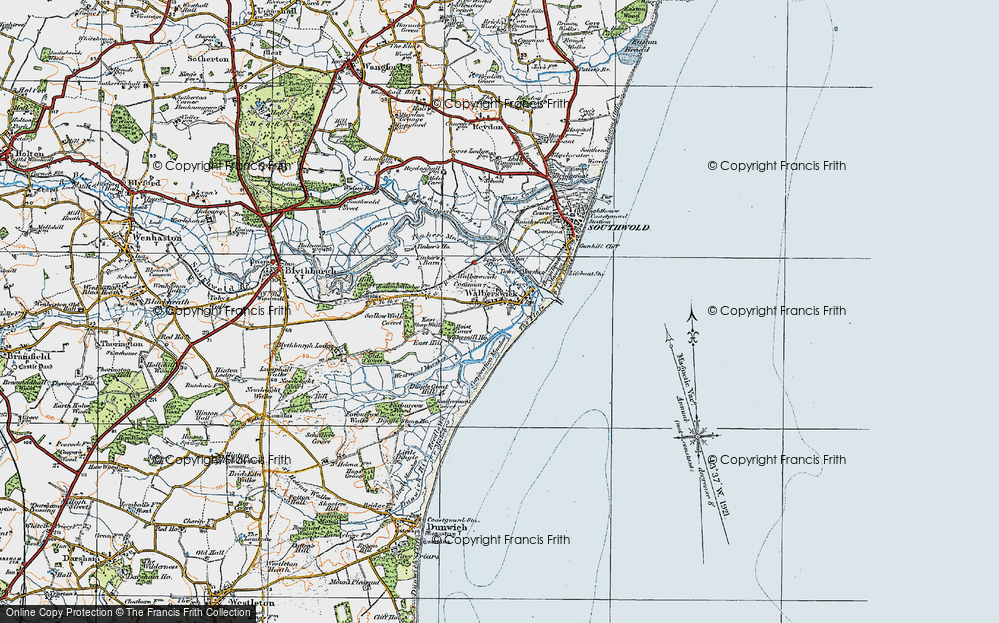 Old Map of Historic Map covering Tinker's Barn in 1921