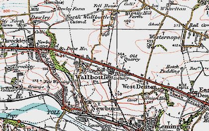 Old map of Walbottle in 1925