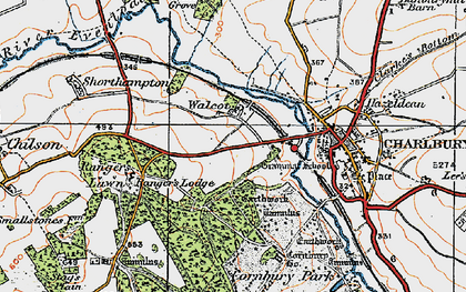 Old map of Wychwood Forest in 1919