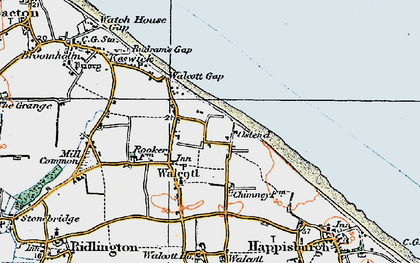 Old map of Walcott in 1922