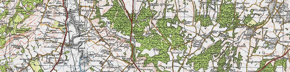 Old map of Walderslade in 1921