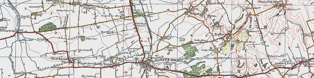 Old map of Willingham Forest in 1923