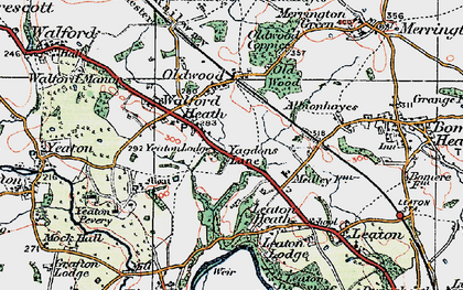 Old map of Yeaton Lodge in 1921