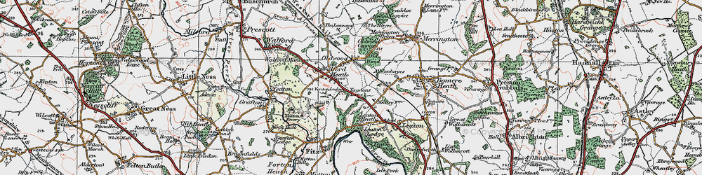 Old map of Old Woods in 1921