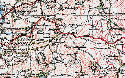 Old map of Windyway Ho in 1923