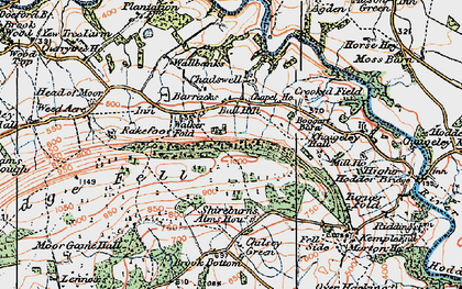 Old map of Armrydding in 1924