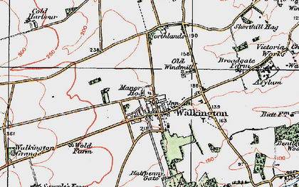 Old map of Walkington in 1924