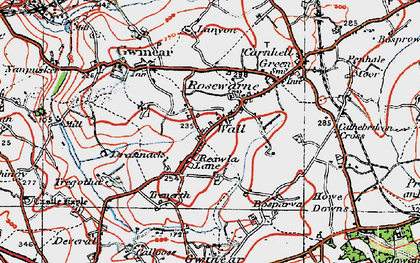 Old map of Wall in 1919
