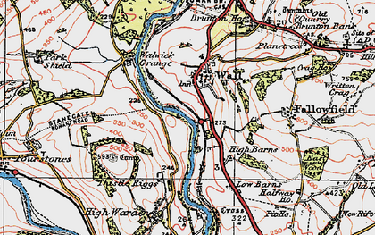 Old map of Wall in 1925