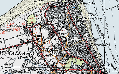 Old map of Wallasey in 1923