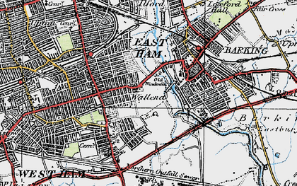 Old map of Wallend in 1920