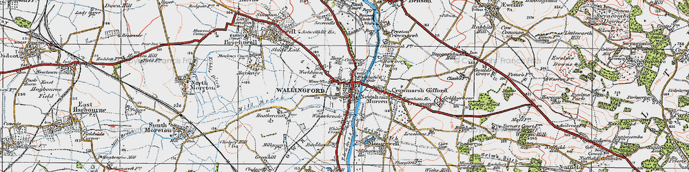 Old map of Wallingford in 1919
